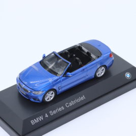 MINICHAMPS dealer model 1.43 2013 BMW 4 Series cabriolet F33  blue color ( 804 22 336 865 )