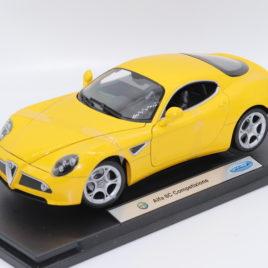 WELLY 1.18 ALFA ROMEO 8C Competizione  yellow color ( 18013W )