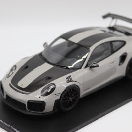 SPARK 1.18 PORSCHE 911 GT2 RS ( WEISSACH PACKAGE )  Chalk grey color  ( 18S299 )