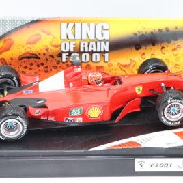 HOTWHEELS 1.18 F1 GP FERRARI F2001  King of the rain  Michael schumacher collection ( 56133 )