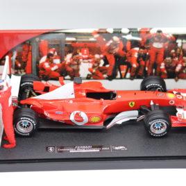 HOTWHEELS 1.18 F1 GP FERRARI 2003 world constructors champion  Michael schumacher collection ( G9727 )