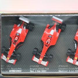 HOT WHEELS 1.43 FERRARI F1 3 car set 2000,2001,2002 Michael Schumacher collection ( B7022 )