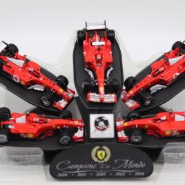 HOT WHEELS 1.43 FERRARI F1 5 car set 2000,2001,2002, 2003, 2004 Michael Schumacher collection ( L6237 )