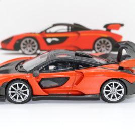 1.64 TSM MINI GT McLaren SENNA  Mira orange color RHD ( MGT00018-R )