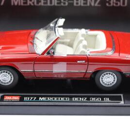 SUN STAR European collectables 1.18 Mercedes Benz 1977 350 SL cabriolet  Signal red color ( 4605 )