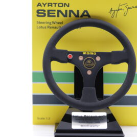 Minichamps 1.2 Ayrton Senna  Lotus Renault 97T F1 steering wheel 1985  ( 254 850012 )